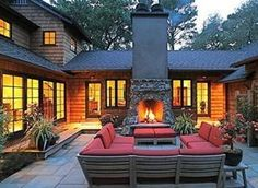 must have the cozy stone fireplace