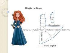 Patrón y costura muestra cómo hacer el patrón para el disfraz de Mérida de Brave. 1. Tomamos las medidas. 2. Realizamos el patrón base alargado hasta la cadera, si es patrón ba
