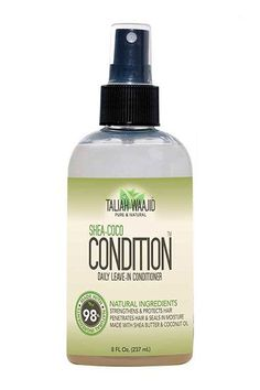 """Taliah Waajid Shea-Coco Condition Daily Leave-In Conditioner, $9.99, available at Sally Beauty.   For a quick curl reset post-workout, Price is a fan of water-based, leave-in conditioners. The refresher spray helps put things back in place.""""A creamy leave-in product and/or a touch of no-alcohol gel will also control frizz and keep your strands looking fresh to death. http://"""