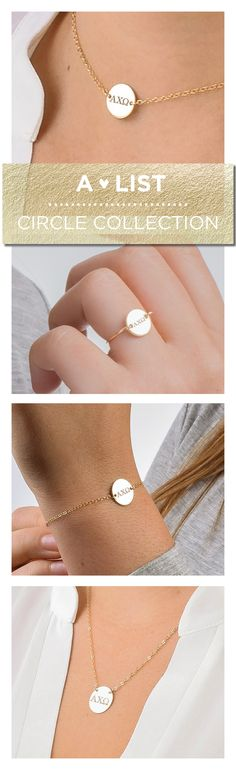 This dainty Alpha Chi Omega Circle Collection from www.alistgreek.com is a simple and modern way to bring a traditional sorority keepsake into your jewelry collection.