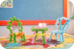miniature pipe cleaner furniture