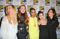 Jennifer Lawrence, Sophie Turner, Alexandra Shipp, Lana Condor, Olivia Munn #EWComicCon