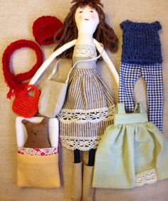 Rag doll, Cloth doll, dress up doll, unique, doll set, active play, handmade, Isabella by Dollissimo