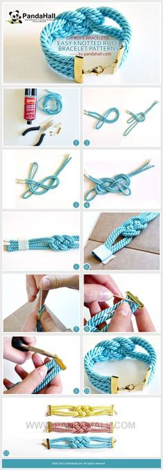 Do you want to make your own super easy, simple and knotted rope bracelet patterns? It's not as hard as you would think! We present to you a detailed DIY rope bracelet project that includes clear illustrations and an elaborate explanation.
