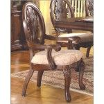 $389.60  McFerran Home Furnishings - Traditional Arm Chair in Cherry (Set of 2) - MCFD5996-CA