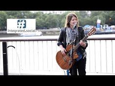 Feeling Good (bass guitar style) - Street Performer Susana Silva feelin' good - YouTube
