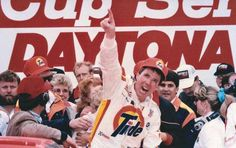 """Top 40 Daytona 500 performers of all time:     Darrell Waltrip:   One of the most famous victories of all‐time came for D.W. in 1989, when he ended 17 years of frustration by nursing home his Hendrick Motorsports Chevrolet to victory with just enough fuel in the tank to win. In Victory Lane, Waltrip performed the """"Ickey Shuffle,"""" a dance named after Cincinnati Bengals running back Ickey Woods."""