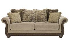 Leather And Fabric Sofa Savings Furniture Sofa