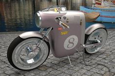 Ossa Monocasco Racing, a motorcycle with electric motor and minimalist design inspired by a famous Spanish bike of the 70s