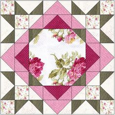 Bilderesultater for large floral focus block quilt I have no formal art training and never considered myself to be one of those right-brain creative types. I love reading interviews of quilt designers and their explanations abou… Anatomy of a quilt des Star Quilt Blocks, Star Quilt Patterns, Pattern Blocks, Pattern Ideas, Free Pattern, Quilting Projects, Quilting Designs, Patch Quilt, Patchwork Quilting