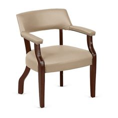 Monroe Faux Leather Captains Guest Chair - NBF Signature Series | National Business Furniture