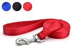 Zucchi Pet Durable Leash Strap for Puppy Dog Leash Rope 6feet Long 1 Wide Red *** Check this awesome product by going to the link at the image.
