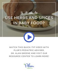 Is it okay to spice it up with baby's food? A thousand times yes! Watch this week's quick-tip video with @DrGreene to learn more about how and when to introduce spices and herbs to baby: http://spr.ly/649088OWm
