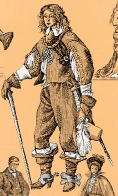 Cavalier Costumes - Visuals 1639 - England
