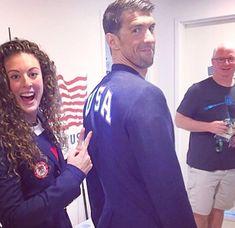Alison Schmitt and Michael phelps. Olympic Swimmers, Olympic Gymnastics, Olympic Sports, Olympic Games, Michael Phelps, Douglas Michael, Gabby Douglas, Allison Schmitt, Swimmer Girl Problems
