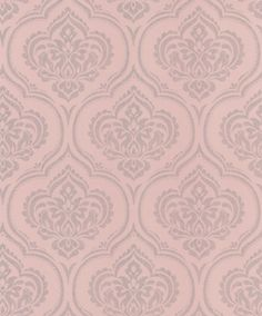 Glitter Damask (40583) - Albany Wallpapers - An all over wallpaper design featuring an elegant glitter damask motif. Shown here in pink with silver glitter detailing. Other colourways are available. Please request a sample for a true colour match. Paste-the-wall.