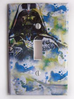 Yoda Star Wars Art Room Decor Decorative Light Switch by idillard. $9.00, via Etsy.