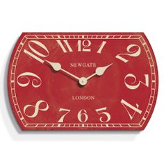 Discover the Newgate Clocks Theatre Clock - Cinema Red - 55cm dia at Amara