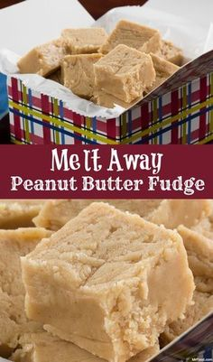 Away Peanut Butter Fudge - For a peanut butter fudge that literally melts in your mouth, this is the recipe you need. -Melt Away Peanut Butter Fudge - For a peanut butter fudge that literally melts in your mouth, this is the recipe you need. Peanut Butter Recipes, Fudge Recipes, Candy Recipes, Sweet Recipes, Dessert Recipes, Marshmallow Fluff Peanut Butter Fudge Recipe, Pb Fudge Recipe, Peanut Butter Marshmallow Fudge, Cronut Recipes