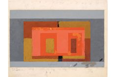 Josef Albers, Variant / Adobe, ca. 1947. Oil on blotting paper, 48.2 x 61.4 cm© 2012 The Josef and Anni Albers Foundation / Artists Rights Society New York. Digital Image by Imaging 4 Art, inv. no. 1976.2.114    More Information: http://artdaily.com/index.asp?int_sec=11_new=56639_modo=1#[/url]  Copyright © artdaily.org