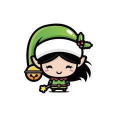 Natal Design, Diy For Kids, Crafts For Kids, Elfa, Christmas Illustration, Inuyasha, Xmas Cards, Cute Art, Happy Holidays