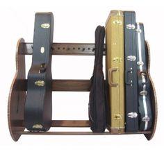guitar case storage rack