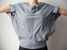 MILCH macht Hemden aus Hemden, 100% upcycling aus alten Herrenhemden zu avantgardistischen neuen Modellen. Lokal, fair, ecofashion, greenfashion, upcycling.