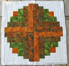 Amber Logs Quilt Pattern Freemotion by the River Electric Quilt, Fall Quilts, Log Cabin Quilts, Quilted Table Runners, To Loose, Logs, Rose Buds, Different Colors, Quilt Patterns