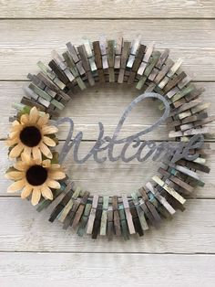 Excited to share this item from my #etsy shop: Rustic clothespins wreath /front door wreath /front porch wreath /Farmhouse wreath /everyday wreath /flower wreath /summer wreath /spring #homedecor #housewarming #farmhouse #rusticfarmhouse #rusticdecor #rusticwreath #farmhousewreath