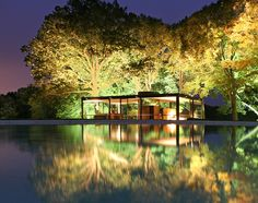 Philip Johnson Glass House - Site du National Trust for Historic Preservation Philip Johnson Glass House, Tuolumne Meadows, New Canaan, Cecile, Best Places To Travel, Interior Architecture, Mid-century Modern, Exterior, National Trust