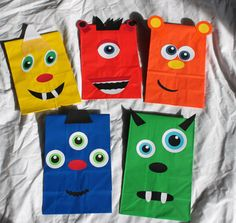 Monster Party Favors Treat Goody Bags Loot Favor Sacks Kids Theme Birthday