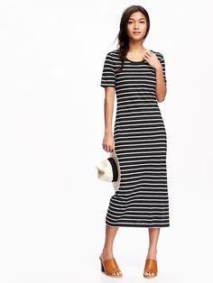 Old Navy Dresses - Old Navy Striped Midi Dress Striped Maxi Dresses, Old Navy Dresses, Mom Outfits, Modest Outfits, Hot Dress, Material Girls, Maternity Wear, Modest Fashion, Short Sleeve Dresses