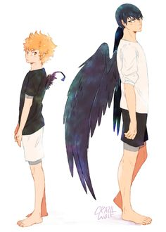 What Up Potato Face — A little winged kagehina au where Hinata's wings...