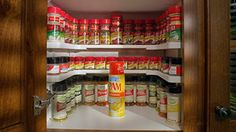 Spicy Shelf Patented Spice Rack and Stackable Organizer Spicy Shelf http://smile.amazon.com/dp/B00MWCW3RC/ref=cm_sw_r_pi_dp_HitBub1A928T5