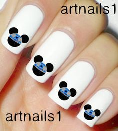 Star Wars Disney Mickey Mouse Nails Art Polish R2D2 by artnails1