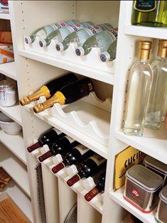 20 ideas for smart kitchen storage – Kitchen Pantry Cabinets Designs Kitchen Organization Pantry, Kitchen Pantry Cabinets, Pantry Storage, Storage Hacks, Wine Storage, Storage Cabinets, Kitchen Storage, Home Organization, Storage Ideas