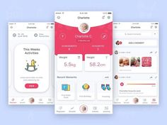 """223 Likes, 2 Comments - UI Inspirations (@ui.inspirations) on Instagram: """"Baby stimulation mobile app for parents. Design by Aqeela Valley. - - - - - #app #appdesign #design…"""""""