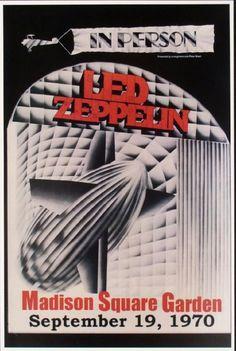 1970 Led Zeppelin Madison Square Garden Concert Poster