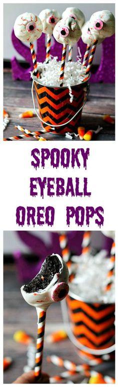 Spooky Eyeball Oreo Pops