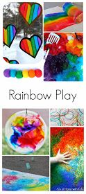 Regenbogen Farben 36 Beautiful and Engaging Rainbow Activities for all ages: Babies, Toddlers, Preschoolers and even Older Kids! From Fun at Home with Kids Rainbow Activities, Spring Activities, Infant Activities, Preschool Activities, Colour Activities For Toddlers, Nanny Activities, Preschool Education, Children Activities, Children Play