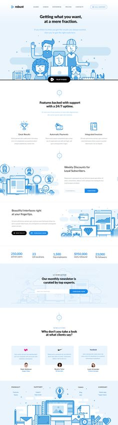 Attractive Blue #websdesignlayout