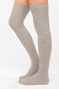 {$14} Honeycomb Over-The-Knee Sock -UrbanOutfitters