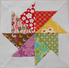 Like this quilt block with the scraps