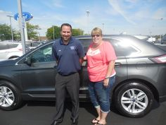 Joe Meyer and the rest of us here at Court Street Ford would like to congratulate Cathy Statler of Bradley on the purchase of her 2015 Ford Edge.  Thank you for your business Cathy!