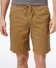 American Rag Men's Pull-On Cotton Shorts, Only At Macy's  - Gold XL