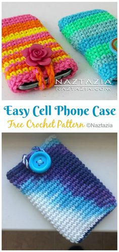 you would get all kinds of crochet phone cases patterns, designs, shapes and even the hues that you choose for your private cell cover. Crochet Phone Case Pattern Free, Crochet Phone Cover, Crochet Case, Bag Pattern Free, Pouch Pattern, Easy Crochet, Free Crochet, Crochet Gifts, Knitting Patterns