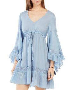 BCBGMAXAZRIA Jackleen Peasant Dress   Bloomingdale's