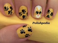Inspired by Puss in Boots and created with my love for cats in mind this design was a must.  I am so happy with how it turned out.  What do you think.    Watch The Video Tutorial @ http://www.polishpedia.com/puss-in-boots-nails.html