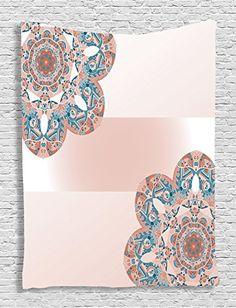 Ambesonne Oriental Mandala Decor Collection Snowflake Decorative Design  Floral Mehndi Paint Bedroom Living Kids Girls Boys 8e233bc3e