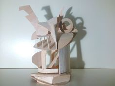 Constructivist sculpture in wood